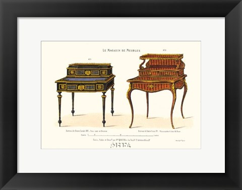 Framed Antique Tables - layered Print