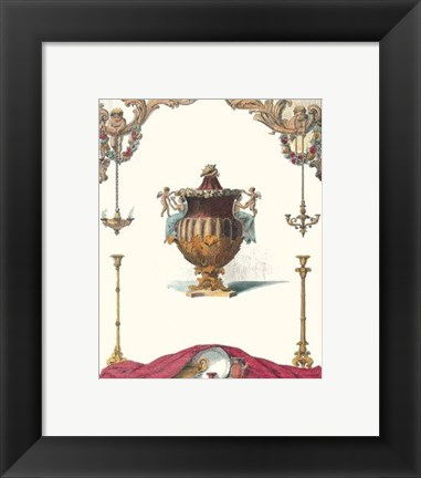 Framed Antique Urns IV Print