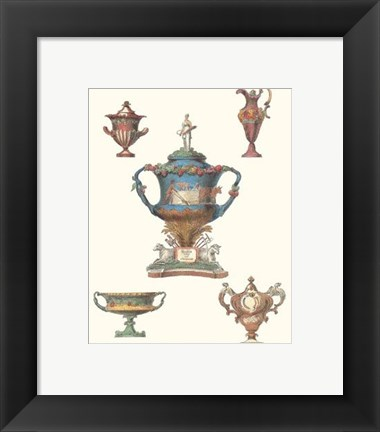Framed Antique Urns V Print