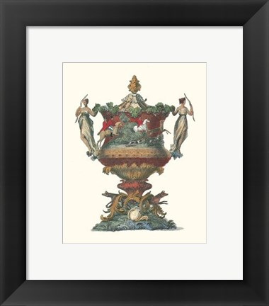 Framed Antique Urns II Print