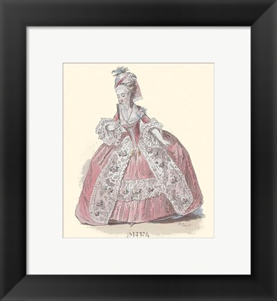 Framed French Costumes Print