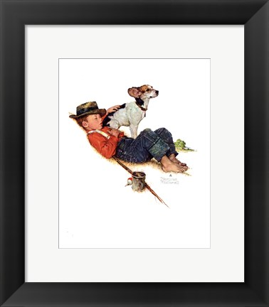 Framed Adventurers Between Adventures Print