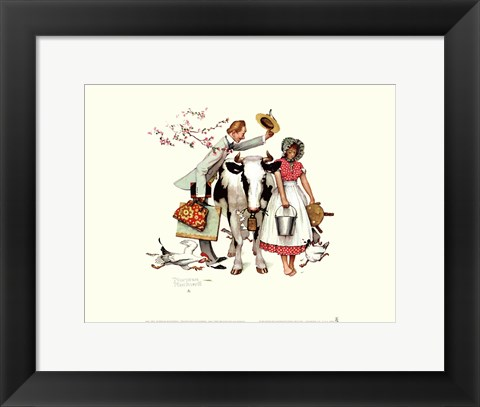 Framed Traveling Salesman Print