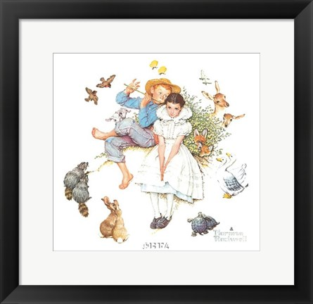 Framed Sweet Song So Young Print