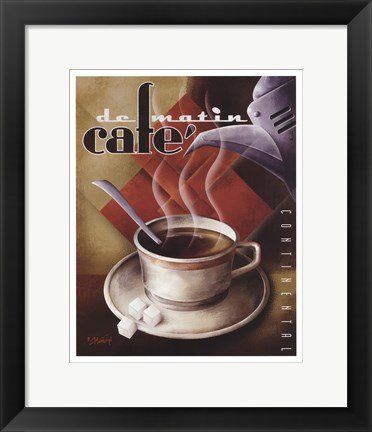 Framed Cafe de Matin Print