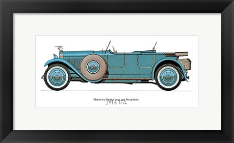 Framed Hispano Suiza 1926 Print