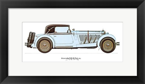 Framed Mercedes-Benz 1928 Print