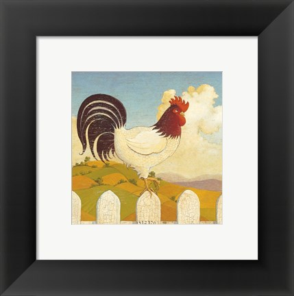 Framed Country Crowers I Print