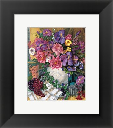 Framed Victorian Bouquet Print