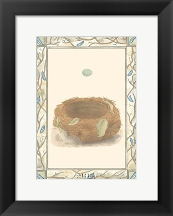Framed Woodland Nest III Print