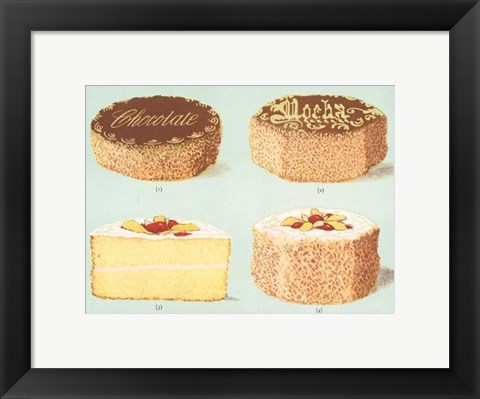 Framed Decorated Gateaux-Chocolate Print