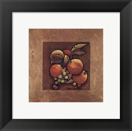 Framed Oranges and Grapes Print