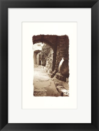 Framed Archway and Stone Jar Print