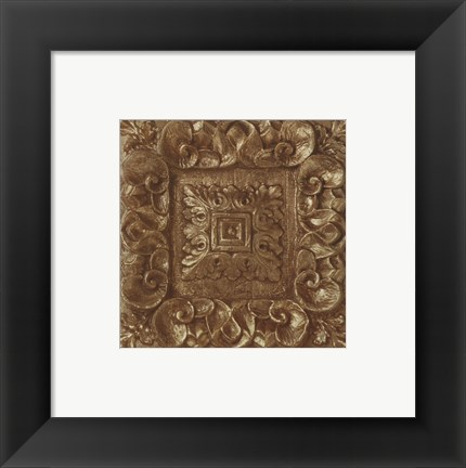 Framed Copper Leaf Rosette Print