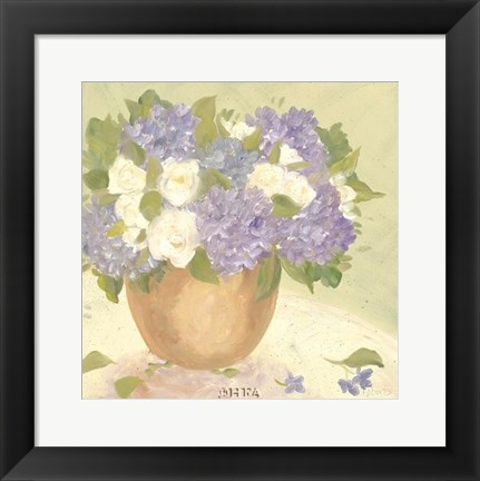 Framed Sun Porch Hydrangeas I Print