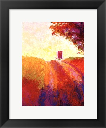 Framed Amish Buggy Print