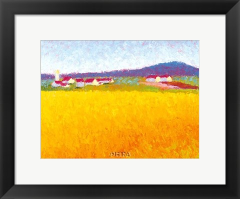 Framed Fields of Gold Print