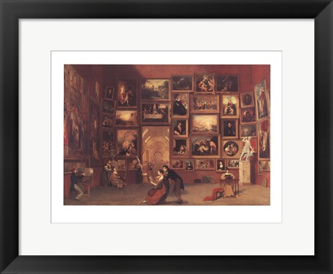 Framed Gallery of the Louvre Print