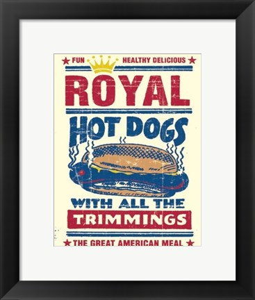 Framed Royal Hot Dogs Print