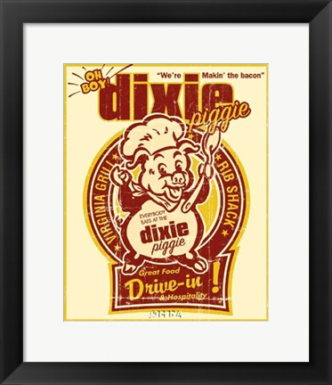 Framed Dixie Piggie Drive-In Print