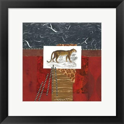 Framed Savannah Leopard Print