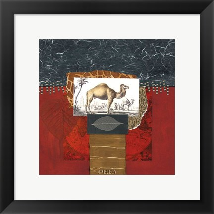 Framed Savannah Camel Print