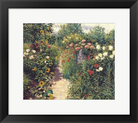 Framed Garden at Giverny Print