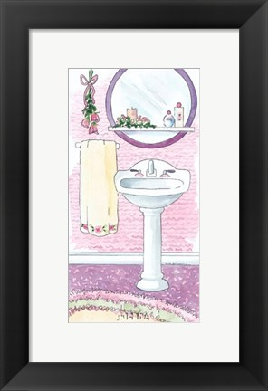 Framed Candlelight & Roses Print