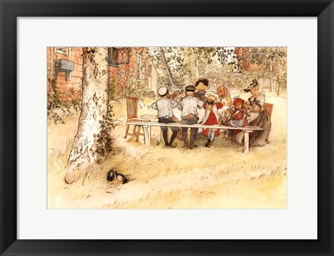 Framed Breakfast under the Big Birch Print