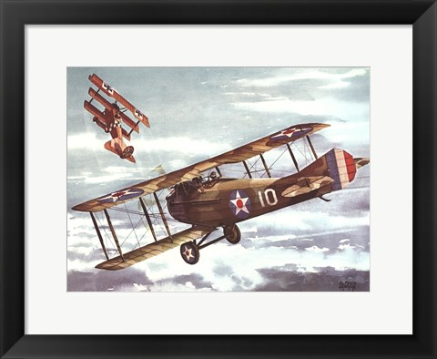 Framed French Spad, 1916 Print
