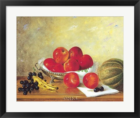 Framed Still Life with Red Apples Print