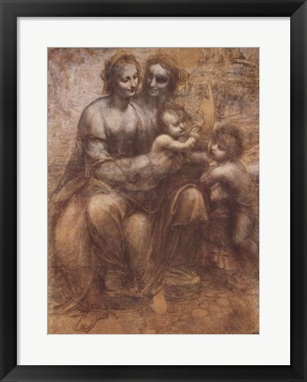 Framed Virgin and Child with St. Anne Print