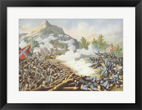 Framed Battle of Kenesaw Mountain Print