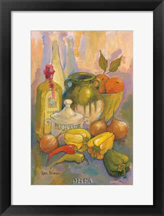 Framed Mediterranean Kitchen III Print