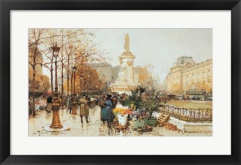 Framed Flower Stall Print