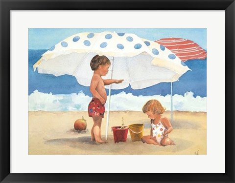Framed Primary Sand Talk Print