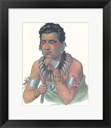 Framed Chief of the Ioways Print