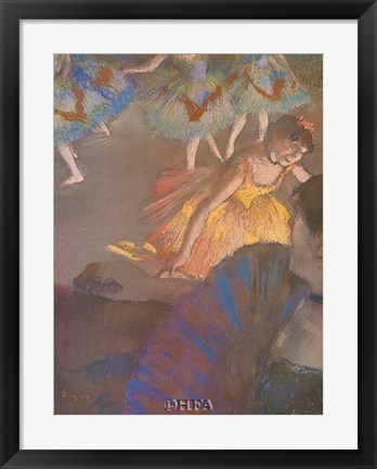 Framed Ballerina and Lady with Fan Print