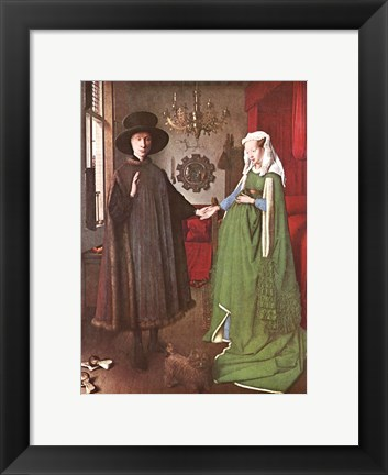 Framed Marriage of Giovanni Arnolfini Print