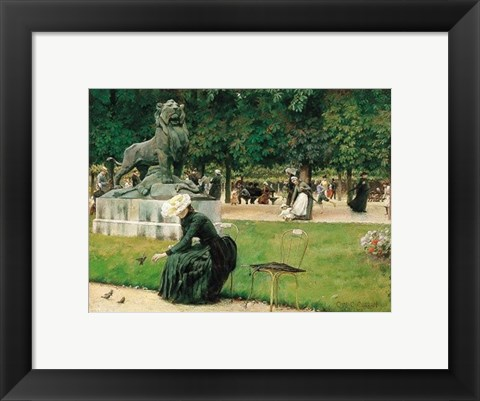 Framed In the Luxembourg (Garden), 1889 Print