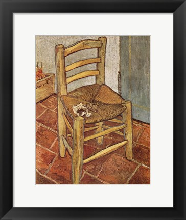 Framed Chair and the Pipe Print
