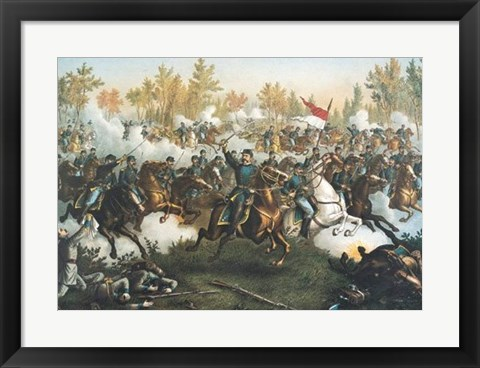 Framed Battle of Cedar Creek Print
