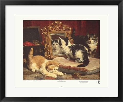 Framed Kittens, 1893 Print