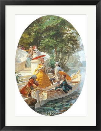 Framed Boating Party Print