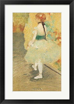 Framed Dancer in Green Print