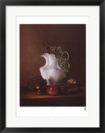 Framed Still Life with Grapes Print