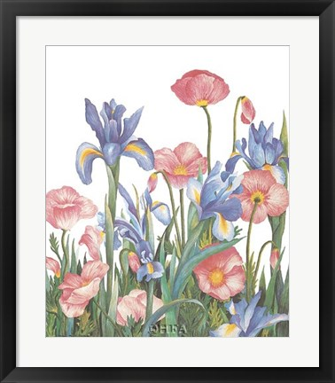 Framed Poppies Print