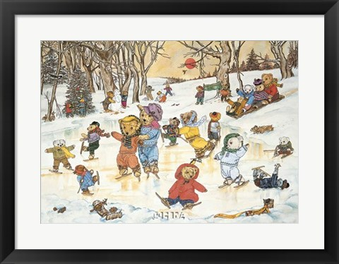 Framed Bear Feats on Ice Print
