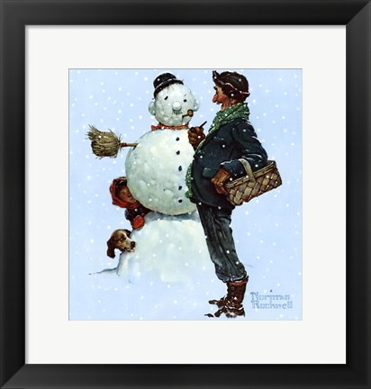 Framed Snow Sculpturing Print