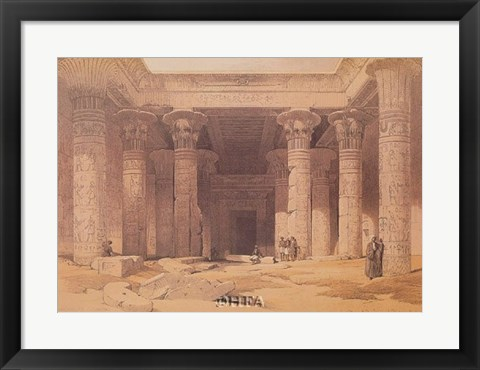 Framed Grand Portico of the Temple of Philae Print